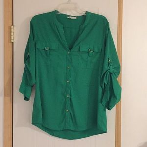 Green Calvin Klein Shirt